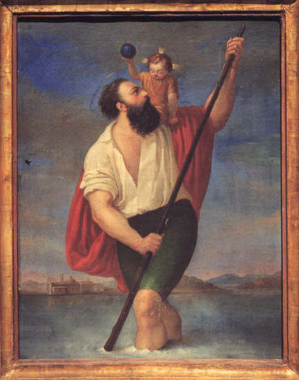 la tela di San Cristoforo